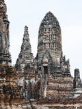 Ancient Pagoda, Chai Wattanaram Temple, Ayutthaya, Royalty Free Stock Photography