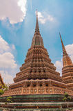 Ancient Pagoda or Chedi at Wat Pho, Bangkok,Thailand Stock Photos