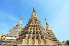 Ancient Pagoda or Chedi at Wat Pho, Thailand Royalty Free Stock Photography