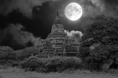 Ancient pagoda in the countryside from Bagan in Myanmar by full Royalty Free Stock Photos