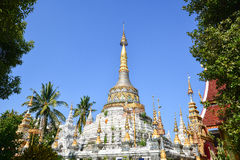 Ancient pagoda with elaborate decoration Stock Image