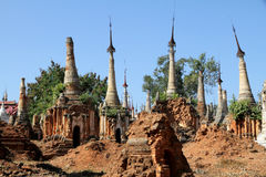 Ancient pagoda in Indein Stock Photography