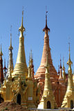 Ancient pagoda in Indein. Ancient Stupas at Indein, Inle Lake, Myanmar Stock Photography