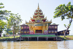 Ancient pagoda at Inle Lake in Myanmar Stock Image