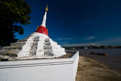 The ancient pagoda in koh kret, Nonthaburi Royalty Free Stock Images