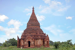 Ancient pagoda in the landscape from Bagan in Myanmar Royalty Free Stock Photo