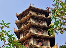 Ancient pagoda in the Marble mountains Stock Images