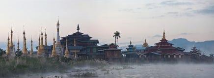 Ancient pagoda and monastery Royalty Free Stock Photography