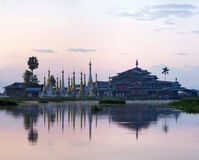 Ancient pagoda and monastery on Inle lake, Shan state, Myanmar Royalty Free Stock Images