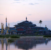 Ancient pagoda and monastery on Inle lake, Shan state, Myanmar Royalty Free Stock Image