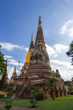 Ancient pagoda. This photo are ancient pagoda at Thai temple in Ayutthaya Thailand Royalty Free Stock Photos