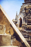 Ancient pagoda on Phrasisanpeth temple in ayutthaya historical p Royalty Free Stock Photo