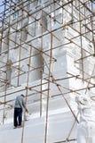 Ancient Pagoda Re construction Stock Photo