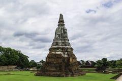 Ancient Pagoda & Ruins in Ayutthaya, Thailand. Old Beautiful Thai Temple Wat Chai Wattanaram, Ayutthaya Historical Park, Thailand Stock Images