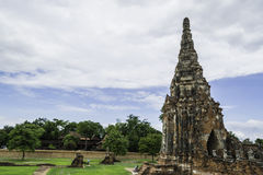 Ancient Pagoda & Ruins in Ayutthaya, Thailand. Old Beautiful Thai Temple Wat Chai Wattanaram, Ayutthaya Historical Park, Thailand Stock Photography