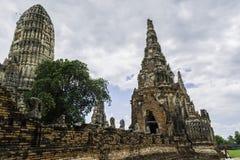 Ancient Pagoda & Ruins in Ayutthaya, Thailand. Old Beautiful Thai Temple Wat Chai Wattanaram, Ayutthaya Historical Park, Thailand Stock Photo