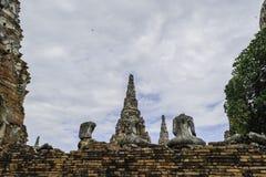 Ancient Pagoda & Ruins in Ayutthaya, Thailand. Old Beautiful Thai Temple Wat Chai Wattanaram, Ayutthaya Historical Park, Thailand Stock Image