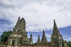 Ancient Pagoda & Ruins in Ayutthaya, Thailand. Old Beautiful Thai Temple Wat Chai Wattanaram, Ayutthaya Historical Park, Thailand Royalty Free Stock Images