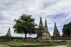 Ancient Pagoda & Ruins in Ayutthaya, Thailand. Old Beautiful Thai Temple Wat Chai Wattanaram, Ayutthaya Historical Park, Thailand Royalty Free Stock Photo