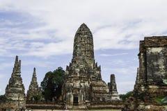 Ancient Pagoda & Ruins in Ayutthaya, Thailand. Old Beautiful Thai Temple Wat Chai Wattanaram, Ayutthaya Historical Park, Thailand Stock Photos