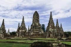 Ancient Pagoda & Ruins in Ayutthaya, Thailand. Old Beautiful Thai Temple Wat Chai Wattanaram, Ayutthaya Historical Park, Thailand Royalty Free Stock Image