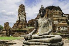 Ancient Pagoda & Ruins in Ayutthaya, Thailand. Old Beautiful Thai Temple wat Mahathat, Ayutthaya Historical Park, Ayutthaya, Thailand Stock Image