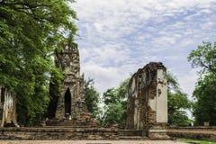 Ancient Pagoda & Ruins in Ayutthaya, Thailand. Old Beautiful Thai Temple wat Mahathat, Ayutthaya Historical Park, Ayutthaya, Thailand Stock Images