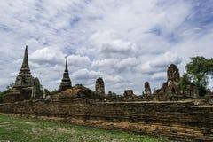 Ancient Pagoda & Ruins in Ayutthaya, Thailand. Old Beautiful Thai Temple wat Mahathat, Ayutthaya Historical Park, Ayutthaya, Thailand Royalty Free Stock Photo