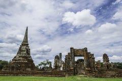 Ancient Pagoda & Ruins in Ayutthaya, Thailand. Old Beautiful Thai Temple wat Mahathat, Ayutthaya Historical Park, Ayutthaya, Thailand Stock Photos