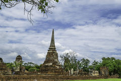 Ancient Pagoda & Ruins in Ayutthaya, Thailand. Old Beautiful Thai Temple wat Mahathat, Ayutthaya Historical Park, Ayutthaya, Thailand Stock Photography