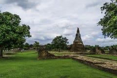 Ancient Pagoda & Ruins in Ayutthaya, Thailand. Old Beautiful Thai Temple wat Mahathat, Ayutthaya Historical Park, Ayutthaya, Thailand Royalty Free Stock Image