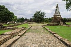 Ancient Pagoda & Ruins in Ayutthaya, Thailand Stock Photo