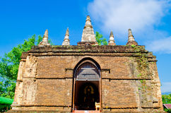 The  ancient Pagoda in the temple. Stock Photos