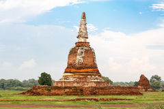 An ancient pagoda, Temple in Ayutthaya, Thailand Stock Images