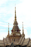 Ancient pagoda in a temple in Thailand Stock Image