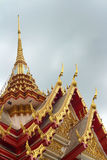 Ancient pagoda in a temple in Thailand.  Stock Photo