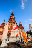 Ancient pagoda at the temple in Thailand Royalty Free Stock Photography