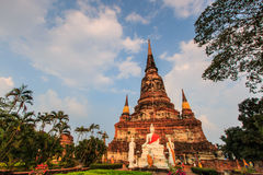 Ancient pagoda at the temple in Thailand Royalty Free Stock Photos