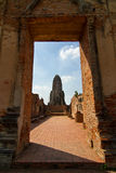 Ancient pagoda and temple under repair Stock Image
