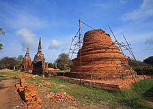 Ancient Pagoda to be renovated or fixed Stock Images