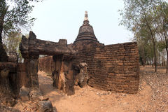 Ancient pagoda on top of hill . Royalty Free Stock Photos