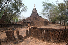 Ancient pagoda on top of hill . Royalty Free Stock Photo