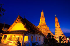Ancient pagoda at Wat Arun Royalty Free Stock Photos