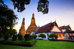Ancient pagoda at Wat Arun Stock Photo