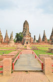 Ancient pagoda at Wat Chaiwatanaram Stock Photography