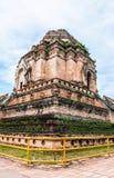 Ancient pagoda. The ancient pagoda at Wat Chedi Luang , Chaing mai , Thailand Royalty Free Stock Photography