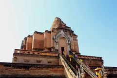 Ancient Pagoda at Wat Chedi Luang Stock Photography