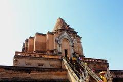 Ancient Pagoda at Wat Chedi Luang Stock Photography