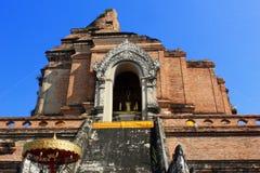 Ancient Pagoda at Wat Chedi Luang, in Chiang Mai Thailand Stock Photography