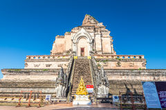 Ancient pagoda at Wat Chedi Luang temple in Chiang Mai, Thailand Stock Photo